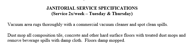 Janitorial-Specs-Example