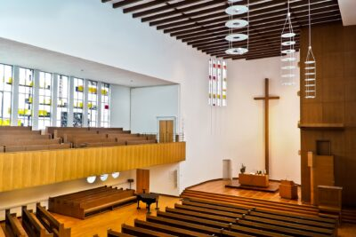 clean church interior after Houston janitorial services