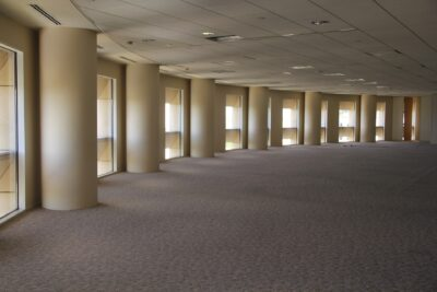 empty office after Houston janitorial services company performed move-out office cleaning and maintenance